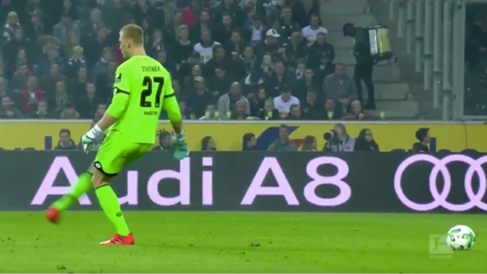 VIDEO | Mai amuzante decât faza în sine! :) Explicaţiile portarului lui Mainz pentru pasa fantomă