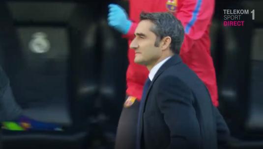 VIDEO   Culmea decenţei. Ce a făcut Ernesto Valverde după ce Barcelona a reuşit să înscrie golul de 3-0