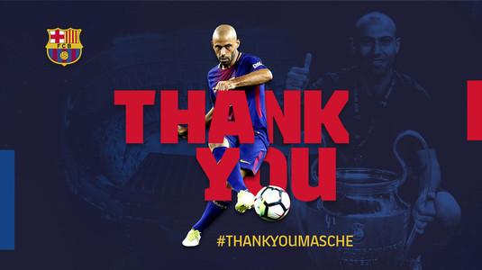 OFICIAL | Barcelona a confirmat despărţirea de Mascherano