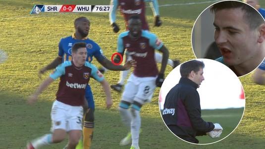 VIDEO INCREDIBIL   I-au sărit dinţii pe teren după o lovitură de K1! Medicul i-a cules din gazon. Cum arată jucătorul lui West Ham