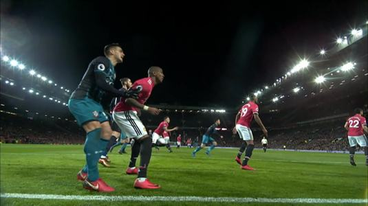 Ashley Young şi-a aflat pedeapsa după lovitura aplicată lui Tadic în meciul cu Southampton