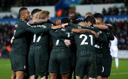Record incredibil doborât de Man City în Premier League! Trupa lui Guardiola înşiră victoriile