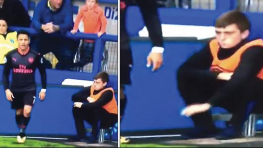 VIDEO | Momentul în care un copil de mingi e mai tare decât Alexis Sanchez! A devenit vedetă pe internet, după un simplu corner