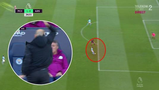 VIDEO | Guardiola, explozie de nervi la derby-ul cu Arsenal. Cum se termină faza din imagine