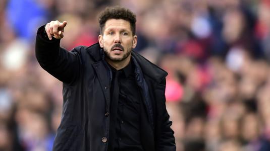 """""""Sunt cu ai mei până la moarte!"""" Diego Simeone, susţinere totală pentru vedeta lui Atletico"""