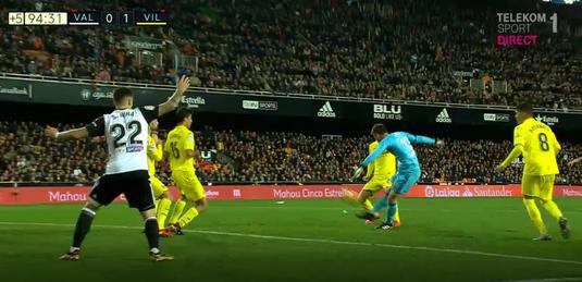 VIDEO   Fază incredibilă în Primera. Portarul Neto putea să fie eroul Valenciei în meciul cu Villarreal