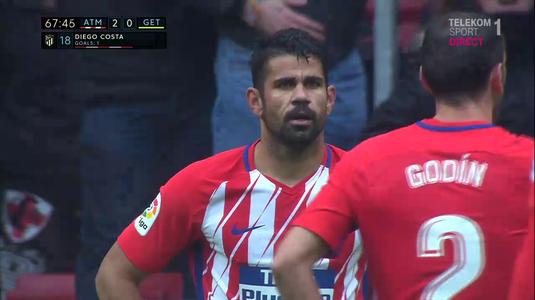 VIDEO | Revenire ciudată pentru Diego Costa în La Liga. A dat gol, s-a bucurat cu suporterii şi a fost eliminat! Vezi aici faza controversată