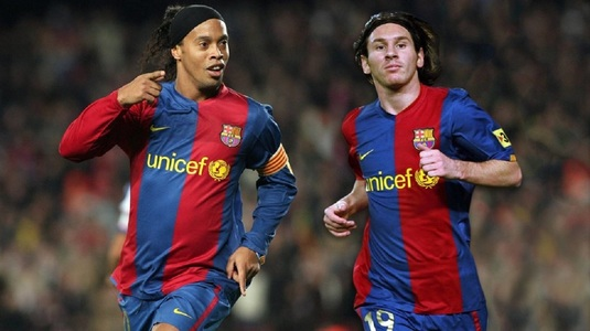 """Ronaldinho susţine plecare lui Messi de la Barcelona: """"L-aş sprijini"""""""