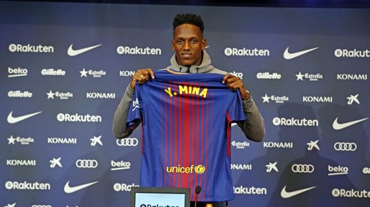 Peste 8.500 de fani pe Camp Nou la prezentarea noului transfer al FC Barcelona, Yerry Mina