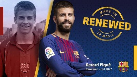 Pique a semnat! Fundaşul rămâne la Barcelona până în 2022