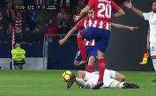VIDEO | Gest incredibil de urât în Atletico - Real Madrid! Correa a şutat cât a putut de tare în capul lui Benzema