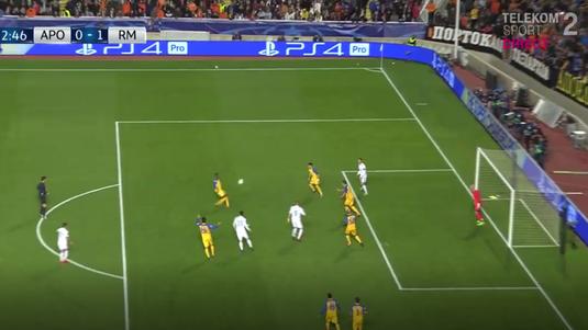 VIDEO   A vrut să fie star, dar s-a făcut de râs! :) Cum a gafat un jucător de la APOEL la golul SUPERB lui Modric