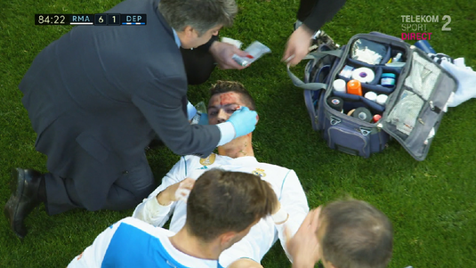 VIDEO | Va rămâne cu cicatrici! Accidentare cumplită suferită de Ronaldo la o fracţiune de secundă după ce a marcat!