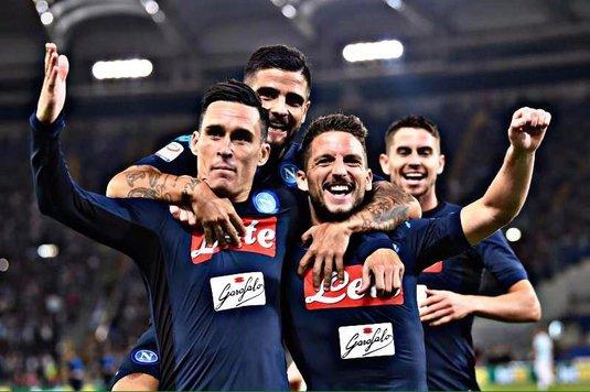 Rezultatele etapei intermediare din Serie A. Napoli a făcut show pe Olimpico, Stoian, pasă de gol