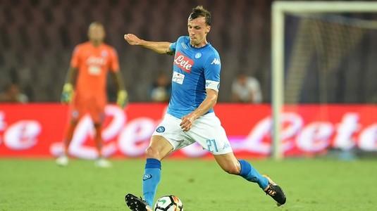 Napoli, eliminată din Cupa Italiei. Chiricheş a greşit la ambele goluri VIDEO