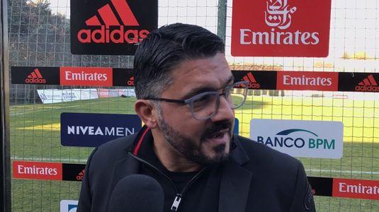 """Reacţie nervoasă a lui Gattuso, după ce Milan a fost egalată de portarul lui Benevento: """"Mai bine mă înjunghia cineva decât să iau golul ăla"""""""