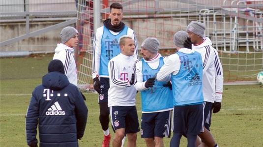FOTO | Au cedat nervii la antrenamentul lui Bayern Munchen! James Rodriguez a fost la un pas să se bată cu un coleg, după o intrare dură