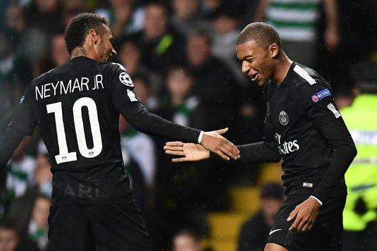 """""""Duble"""" pentru Neymar, Di Maria şi Mbappe. Starurile lui PSG au făcut spectacol în deplasarea de la Rennes"""