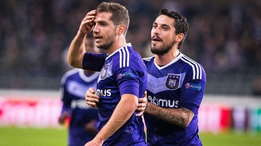 Rednic, învins de Anderlecht. Stanciu a jucat 77 de minute, Chipciu a fost rezervă