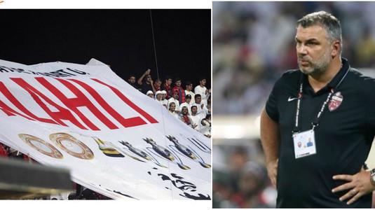 Al Ahli s-a făcut de râs la primul meci după plecarea lui Cosmin Olăroiu! Banner spectaculos afişat de fani pentru Oli