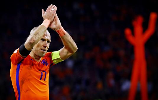 Rămas-bun! Robben s-a retras din naţionala Olandei cu un gol magnific! VIDEO