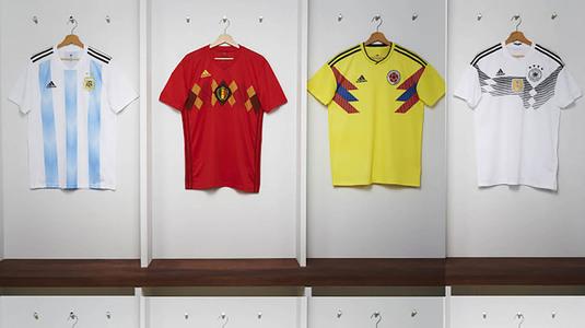 SUPER FOTO | Naţionalele sponsorizate de Adidas şi-au lansat echipamentele pentru CM 2018. Modele vintage pentru Spania, Germania, Argentina sau Belgia