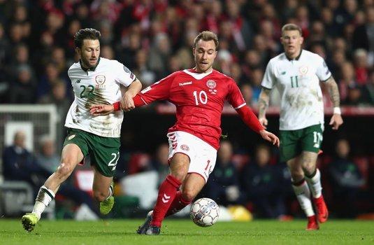 Danemarca şi Irlanda au încheiat la egalitate prima manşă din barajul de calificare la Cupa Mondială