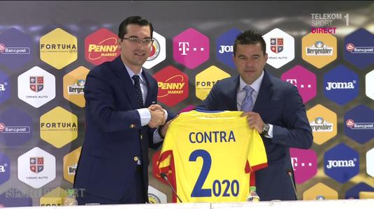 """Contra a fost prezentat oficial. Primul avertisment pentru tricolori: """"Vreau să ne luptăm cu echipele mari"""""""
