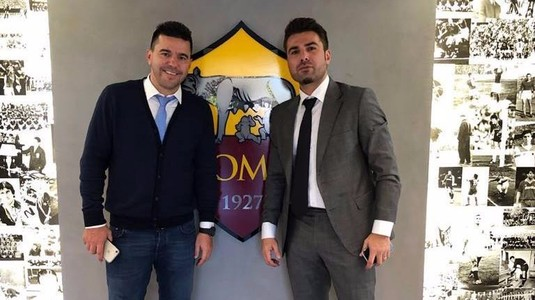 FOTO | Contra şi Mutu au vizitat baza de pregătire a lui AS Roma şi vor asista la derby-ul cu Lazio
