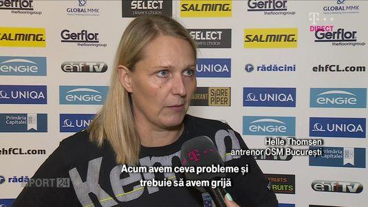 VIDEO | Helle Thomsen va testa câteva jucătoare în meciul cu Gdynia, ultimul din grupele Ligii Campionilor