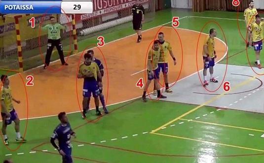 Cine spune că handbalul se joacă în 7? FOTO | Câţi jucători a avut pe teren Potaissa Turda la meciul cu Focşani