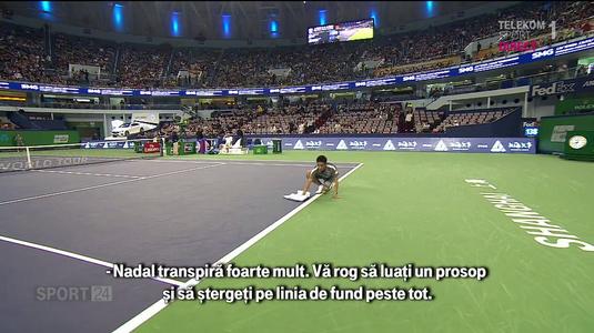 """Nadal a folosit toate armele posibile împotriva lui Fognini. """"Nadal transpiră foarte mult"""""""