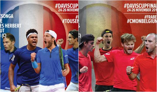 Franţa şi Belgia au anunţat componenţa echipelor pentru finala Cupei Davis
