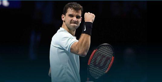 Grigor Dimitrov s-a calificat în semifinalele Turneului Campionilor
