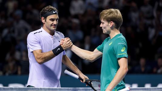 David Goffin s-a calificat în semifinalele Turneului Campionilor. Duel cu Federer!