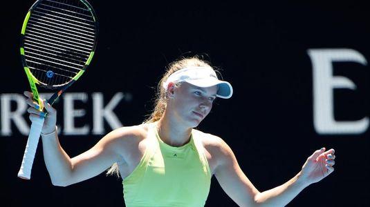 Cea mai nebună revenire de la Australian Open s-a petrecut sub privirile Simonei Halep! Wozniacki a fost condusă cu 1-5 în decisiv, dar a câştigat senzaţional