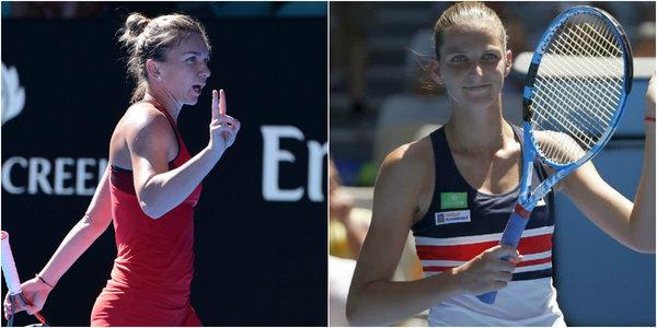 LIVE | Simona Halep vs Karolina Pliskova, ACUM, în sferturile de finală de la Australian Open