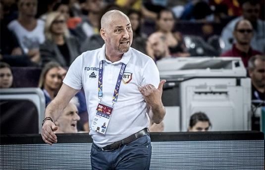 Mutare pe banca echipei naţionale de baschet masculin a României