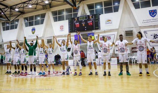 Sepsi Sf. Gheorghe, înfrângere cu Olympiacos şi ratează optimile FIBA EuroCup la baschet feminin