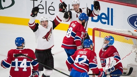 NHL: Arizona Coyotes a reuşit o victorie surprinzătoare cu Montreal