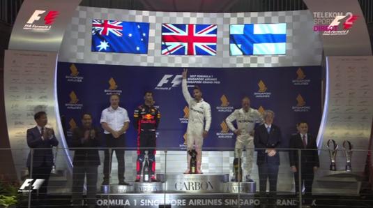 Lewis Hamilton a câştigat Marele Premiu al statului Singapore