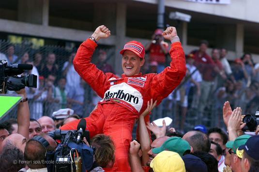 Monopostul Ferrari cu care Michael Schumacher a câştigat la Monaco, în 2001, vândut cu 7,5 milioane de euro