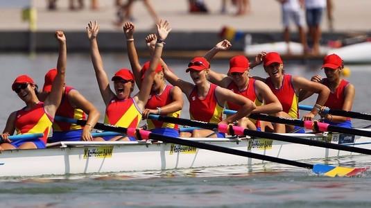 România, reprezentată  de şase echipaje la Campionatul Mondial de canotaj de la Sarasota
