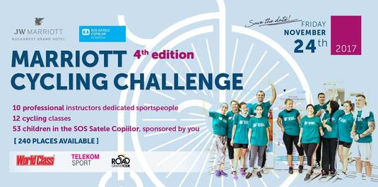 Înscrie-te la evenimentul caritabil Marriott Cycling Challenge