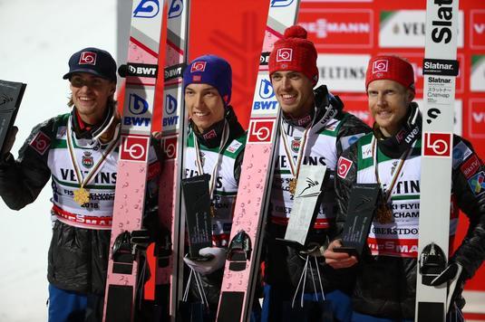 Norvegia, campioană mondială pe echipe la sărituri cu schiurile