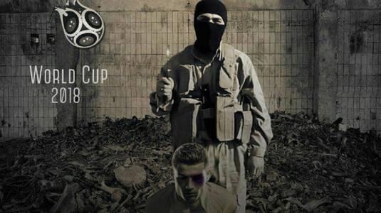 """N-a """"scăpat"""" nici Ronaldo! După Messi şi Neymar, CR7 apare şi el în rolul victimei într-un afiş de propagandă ISIS"""
