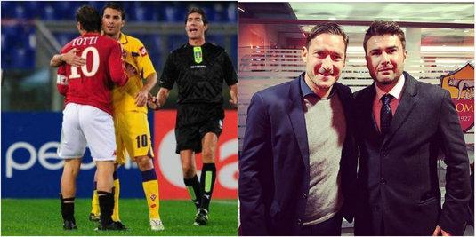 """Întâlnire specială pentru Adi Mutu la Roma! Remember: Momentul în care Francesco Totti l-a sunat pe """"Briliant"""" să-l convingă să semneze: """"Renunţ la bani din salariu!"""""""