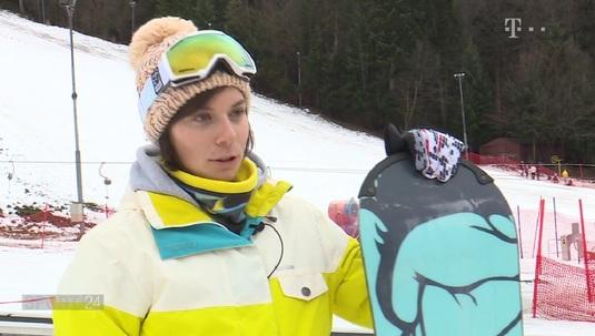 Din barcă, pe placă! VIDEO | Campioană mondială la canotaj, Gianina Beleagă s-a apucat de snowboard
