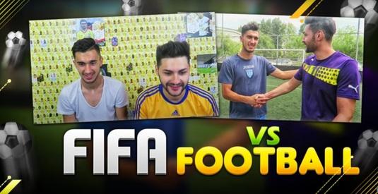 FIFA vs Fotbal! VIDEO | Andrei Ivan a acceptat provocarea lui Ovvy! Cine a câştigat?