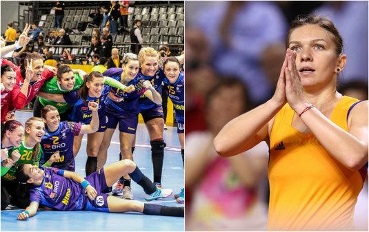 """Mesaj sincer al Simonei Halep pentru naţionala feminină de handbal: """"Sunt sportive de performanţă şi nişte campioane"""""""